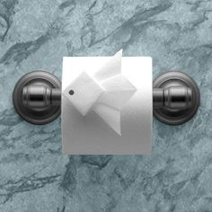 """TROPICAL FISH ♦ Instructions in """"Toilet Paper Origami on a Roll: Decorative Folds and Flourishes for Over-the-Top Hospitality"""" by Linda Wright ♦ http://www.amazon.com/dp/0980092337/"""