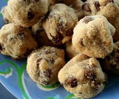 Chocolate chip peanut butter ball cookies