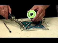 Stained Glass Supplies: How to Solder Stained Glass Panels - Part 1