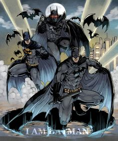 abs bat (animal) bat (symbol) batman batman (series) belt boots brothers cape character name city dc comics dick grayson family gloves glowing glowing eyes gun jason todd male focus mask multiple boys night realistic siblings tim drake weapon - Image I Am Batman, Batman Dark, Batman The Dark Knight, Batman Robin, Batman Artwork, Batman Wallpaper, Nightwing, Batgirl, Catwoman