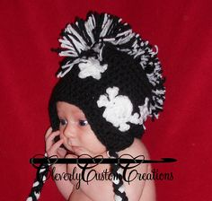 Ravelry: Rock n Roll Pirate Mohawk Hat pattern by Stephanie Cummings.  A contender for the mohawk hat...