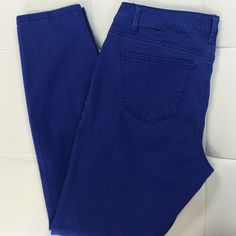 """NINE WEST Skinny Jeans Bright blue makes every outfit pop! perfect to dress up or dress down. 28"""" Inseam Nine West Pants"""