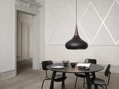 Dark and dramatic, the Orient Pendant Light screams contemporary with its matt finish and complementary rosewood grain detail. Orient Pendant Light With Cord - 🔍 Product Code : Interior Lighting, Modern Lighting, Lighting Design, Suspension Metal, Suspension Design, Dining Room Lamps, Dining Room Lighting, Blitz Design, Home Interior