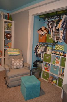 Baby Nursery - Project Nursery | Project Nursery - Take closet doors off! Yes.