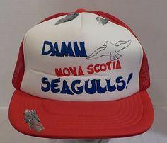 Nova Scotia, Dam Nova Scotia Seagulls, Baseball Truckers Hat Cap 1 Size fits all by LouisandRileys on Etsy