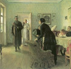 Ways of Seeing Russian Painting, Russian Art, Oil Painting On Canvas, Painting & Drawing, Ilya Repin, Famous Artwork, Ways Of Seeing, Culture, Hand Painted