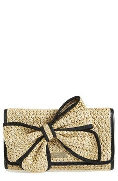 kate spade new york 'belle place - viv' straw clutch available at #Nordstrom