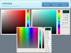 Un sélecteur de couleur temps réel online - colorjoe.js - http://twit.lu/g