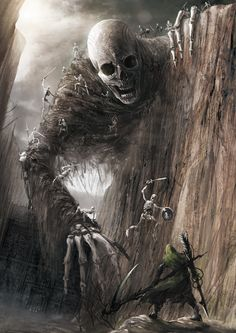 Skulls: Giant #skeleton, fantasy/horror concept by Eiich Matsuba.