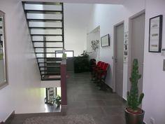 Escalier marche bois, limon metal, 38 http://www.optireno.com/