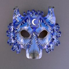DeviantArt: More Like Kuroinu.Japanese Wolf Mask by merimask Japanese Wolf, Wolf Mask, Wolf Costume, Fantasy Wolf, Blue Mask, Leather Mask, Pop Up, Grey And Gold, Monsters