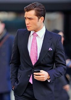 Because he is Chuck Bass. If I was a guy, I'd be Chuck Bass. Meanwhile, I'm in love with him!