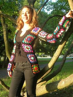 Granny Square Cardigan With Sequins by babukatorium, via Flickr