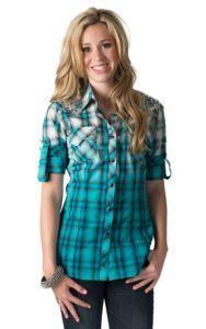 Adiktd Women's Long Sleeve Plaid Print Western Shirt $54.99 | My ...