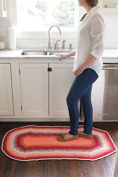 Seed Stitch Rug from Retro Kitchen Knits