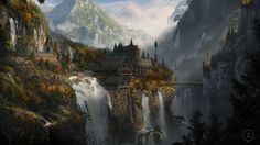 fantasy asian landscapes - Buscar con Google