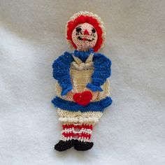 crochet bookmark raggedy ann