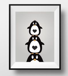 Penguin print animal nursery print penguin by DesignsByLittlePitti