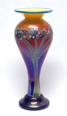 Mango Vines Vase by Ingrid Hanson, Ken Hanson: Art Glass Vase available at www.artfulhome.com