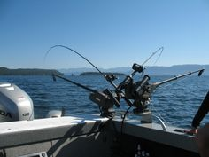 Using downriggers for fishing on Flathead Lake, http://flatheadlake.us/boating/boating-on-flathead-lake/