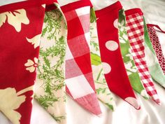 Christmas Bunting Banner Garland Christmas by TheOldPinkPorch, $26.50