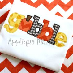Machine Embroidery Design Applique Gobble INSTANT DOWNLOAD