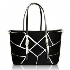 $16.28 Fashion Women's Shoulder Bag With Metallic and Geometric Design