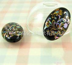 进口日本彩绘珠手绘珠 进口琉璃水晶手链配件