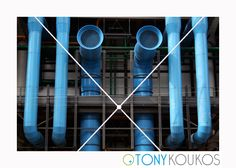 angles, architecture, blue, exterior, functional, landmark, Paris, pipes, pompidou, postmodern, steel