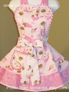 My Favorite Color, My Favorite Things, Pink Apron, Sewing Aprons, Twinkle Twinkle, Tea Towels, Quilts, Denim, Dreams