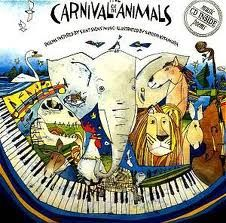 Carnival of the Animals lesson plan- using corresponding kids books. Work on this with printouts of the animals/ sections of the orchestra and make guessing game listening exercise