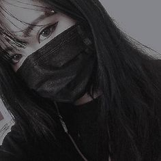 Naughty or nice Korean Aesthetic, Goth Aesthetic, Ulzzang Couple, Ulzzang Boy, Cute Asian Girls, Cute Girls, Pretty Girls, Boyish Girl, Mask Girl