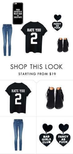 """""""Bad"""" by millenrocks on Polyvore featuring Calvin Klein, Casetify, black and bad"""