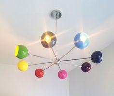 Arcenciel Chandelier - Sazerac Stitches Kids Lighting, Modern Lighting, Sputnik Chandelier, Ceiling Canopy, Childrens Bedroom, Girls Bedroom, Blue Hydrangea, Spring Green, Blush Pink