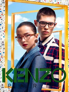Kenzo Accessories Fall/Winter 2012 campaign - features Simon Sabbah and Xiao Wen Ju captured by Frederik Heyman and styled by Marie Chaix. Set design by David White.