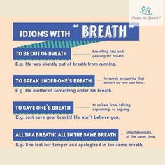 Idioms with Breath