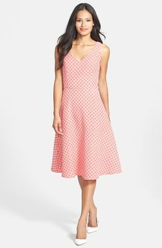 PERFECT FOR Easter!  Isaac Mizrahi New York Jacquard Fit & Flare Dress available at #Nordstrom