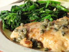 Grouper Piccata with Sauteed Broccoli Rabe and a big THANK YOU!!