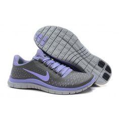 Nike Free 3.0 V4 Frauenschuhe Dunkelgrau Lichtllila