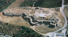 Aerial view of the citadel at Tiryns, Greece, Mycenaean Art. Archaic Greece, Ancient Greece, Ancient Egypt, Mycenaean, Minoan, Hellenistic Period, Classical Period, Ancient Beauty, Ancient Architecture