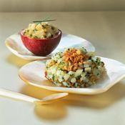 Duo de tartares de saint-jacques - une recette Fruits de mer - Cuisine