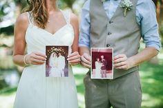 photo with parents' wedding photos | Jen Dillender #wedding