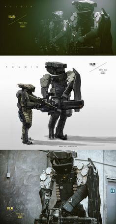 KELOID II_BLR_Comp by Aaron Beck BLR were also after a larger version of the original Keloid robot, and a human soldier with exo-skeletal gear and armour.