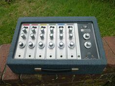 Vintage LSI Bogen MPR-6 Six Channel Spring Reverb Mixer Equalizer NICE!! #Bogen