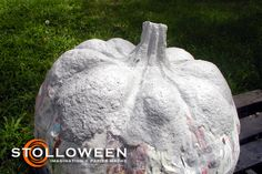 """How to make paper mache pumkins - check out the """"the Basics"""" for ingredients"""