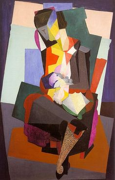 Diego Rivera Motherhood Angelina and the Child Diego 1916 Cubism Diego Rivera Art, Diego Rivera Frida Kahlo, Harlem Renaissance, Frida E Diego, Mother And Child Painting, Breastfeeding Art, Mexican Artists, Mural Painting, Artwork Paintings