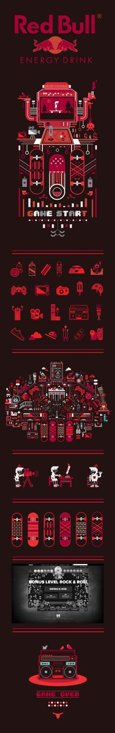 Red Bull Skate Arcade by Petros Afshar, via Behance