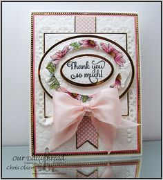 Our Daily Bread Designs Stamp sets: Daisy, With Much Thanks, Our Daily Bread Designs Custom Dies:Double Stitched Rectangle, Ovals, Stitched Ovals, Elegant Ovals, Pennant, Flourished Star Pattern, Layered Lacey Squares,Our Daily Bread Designs Paper Collection: Pastel Paper Pack 2016