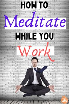 How do you meditate at work? Follow this guide that shows you how and even why you should meditate while you work. #meditate #meditation #meditateatwork #work #workfromhome #workattheoffice #breath #breathmeditation Mindfulness Psychology, What Is Mindfulness, Mindfulness Exercises, Mindfulness Activities, Mindfulness Practice, Mindfulness Meditation, Free Guided Meditation, Breathing Meditation, Meditation For Beginners