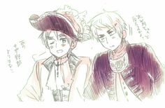 ((Official Art by Himaruya, Pirates))